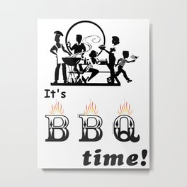 Barbecue Party Time Metal Print