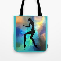 sound Tote Bags featuring sound by tatiana-teni