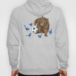 Blue wrens Wombat Football Hoody