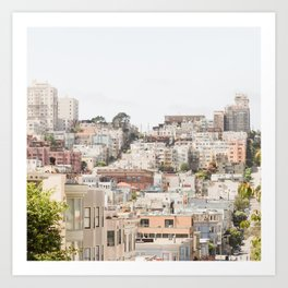 Top of a San Francisco Hill - San Francisco Photography Art Print