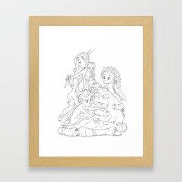 The Birch Queens Cape  Framed Art Print
