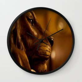 Lion Head by Igh Kihl Media/Piffington Kushfield Photography Wall Clock