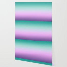 Ombre Pastel Mint Pink Ultra Violet Blurred Gradient Minimal Pattern Wallpaper