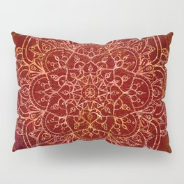 Rust Red Mandala Pillow Sham