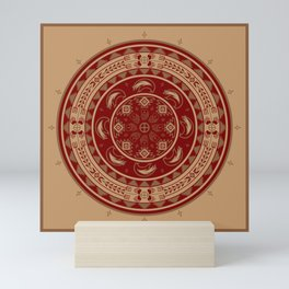 Bear Spirit (Maroon) Mini Art Print