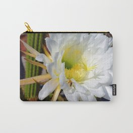 """Cactus Flower And Friend #1"" Photograph Carry-All Pouch"