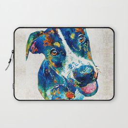 Colorful Dog Art - Happy Go Lucky - By Sharon Cummings Laptop Sleeve