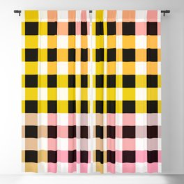 Colorful Checker 05 Blackout Curtain