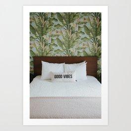 Good Vibes Tropical Bedroom Art Print