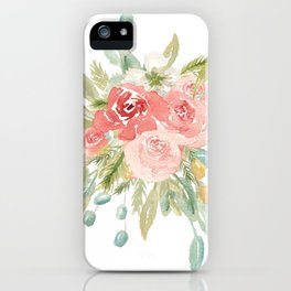 Loose Boho Watercolor Florals iPhone Case