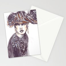 Fashion sketches in mixed technique Stationery Cards