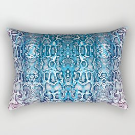 snake skin ombre in teal and burgundy Rectangular Pillow