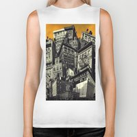 cityscape Biker Tanks featuring Cityscape by Chris Lord