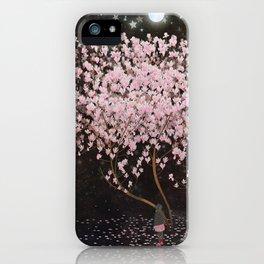 magnolia at night iPhone Case