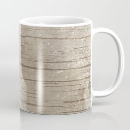 Nautical Driftwood Wood Grain Pattern Coffee Mug