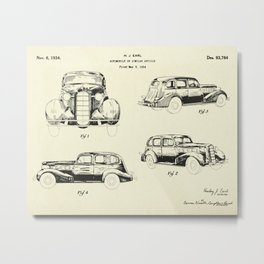 Automobile-1934 Metal Print