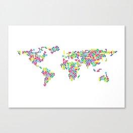 Tetris world (white one) Canvas Print