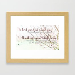 Zephaniah 3  17 Framed Art Print