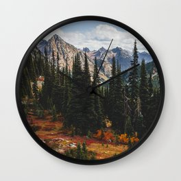 Autumn in North Cascades Wall Clock