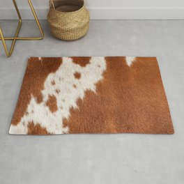 Cowhide, Cow Skin Pattern, Farmhouse Decor Rug