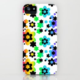 Rainbow Floral Abstract Flower iPhone Case