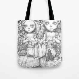 Freya and Faye, the moth collectors Tote Bag