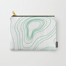 Green map lines & curves Carry-All Pouch