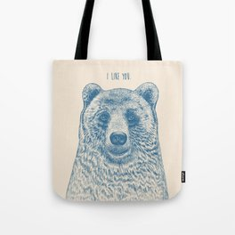 Bear (Ivory) Tote Bag