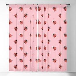 Ladybug Pattern Blackout Curtain