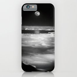 Moon Over Winter Lake iPhone Case