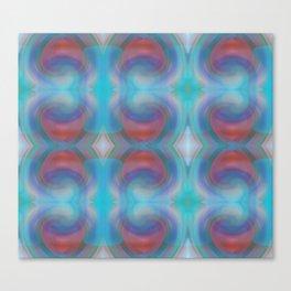 Retro Nouveau Pattern Canvas Print