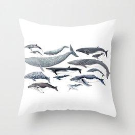 Whale diversity Throw Pillow