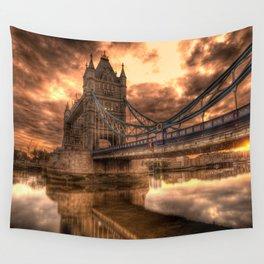 Photo of a gloomy English bridge Wall Tapestry