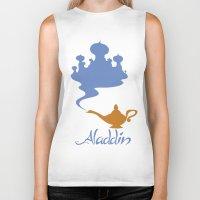 aladdin Biker Tanks featuring Aladdin by Citron Vert