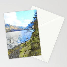 Little Tree at Buttermere, Lake District, England Watercolour Painting Stationery Cards