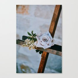 Rose on the Cross (Color) Canvas Print