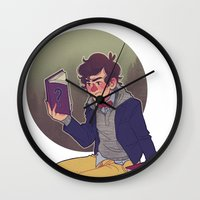 preppy Wall Clocks featuring preppy dipper by monsternist