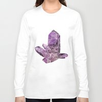 crystal Long Sleeve T-shirts featuring Crystal by Emily