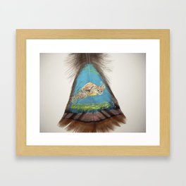 Sea Turtle on the Bottom Framed Art Print