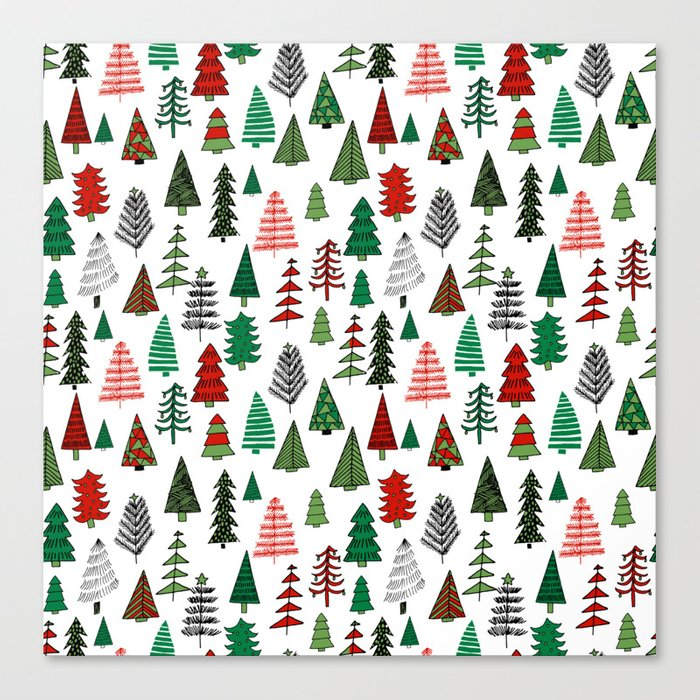 christmas tree forest minimal scandi patterned holiday forest winter canvas print by andrealaurendesign society6 christmas tree forest minimal scandi patterned holiday forest winter canvas print by andrealaurendesign