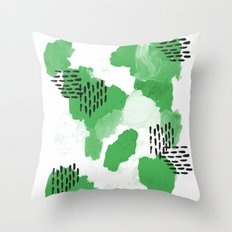 Mason - modern abstract painting gender neutral home decor for minimal Throw Pillow