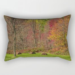 Lonely Bails of Color Rectangular Pillow