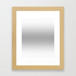 White to Gray Horizontal Bilinear Gradient Framed Art Print
