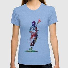 Lacrosse player art 2 T-shirt