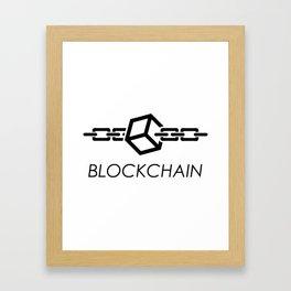 Blockchain Logo Framed Art Print