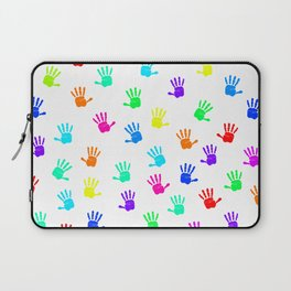 Colored Hands Laptop Sleeve