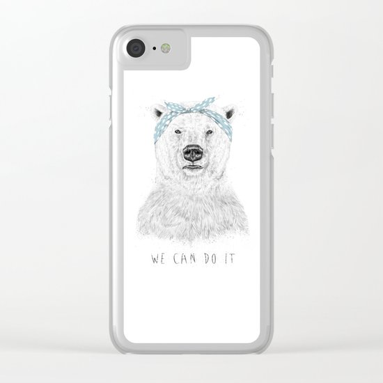 We can do it Clear iPhone Case