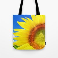 sunflower Tote Bags featuring SUNFLOWER by Ylenia Pizzetti