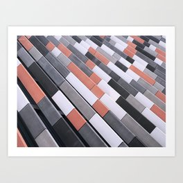 Repeating Tiles Art Print