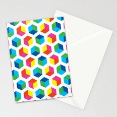 Cube pattern Stationery Cards